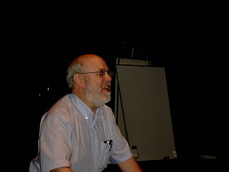 David Bordwell - Bordwell delivering a lecture on film theory.