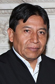 David Choquehuanca Foreign Minister of Bolivia