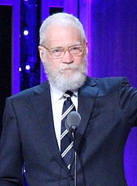 David Letterman David Letterman with his Individual Peabody at the 75th Annual Peabody Awards (cropped).jpg
