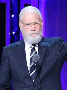 audience on looked shaved Letterman as