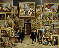 David Teniers (II) - Archduke Leopold Wilhelm in his Picture Gallery at Brussels.jpg