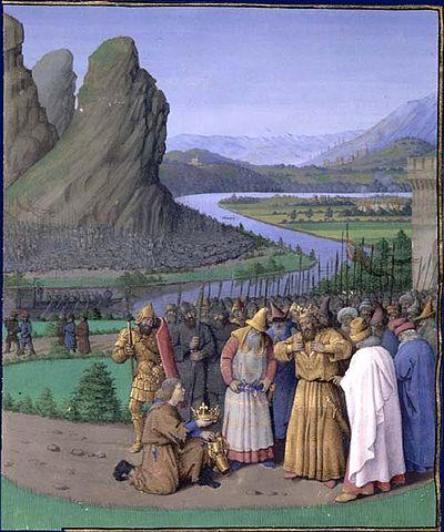 Давиду приносят новость о смерти Саула