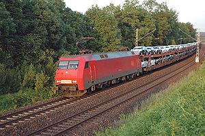 Unit train - A Deutsche Bahn unit train working for Daimler AG between the factories at Sindelfingen and Bremen