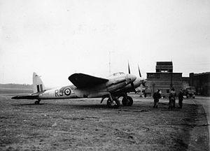 No. 157 Squadron RAF - Image: De Havilland Mosquitoat NF II at RAF Predannack