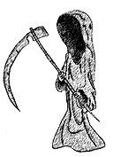 Death drawing plain