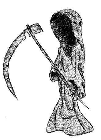 Father's Day (Doctor Who) - The Reapers initially looked more like the Grim Reaper. (Pictured: an artist's representation of the Grim Reaper.)
