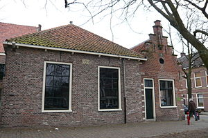 Het Dolhuys - Rightmost building shows date 1564.