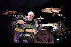 Ian Paice - Ian Paice live with Deep Purple in 2013.