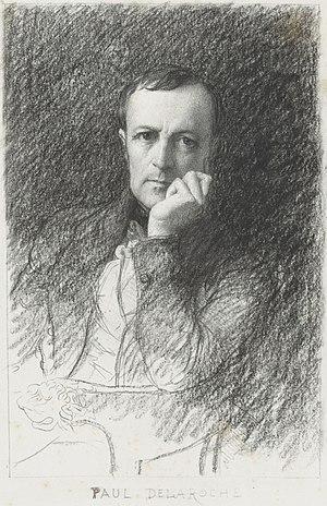 Paul Delaroche - Paul Delaroche; portrait by Eugène-Ferdinand Buttura
