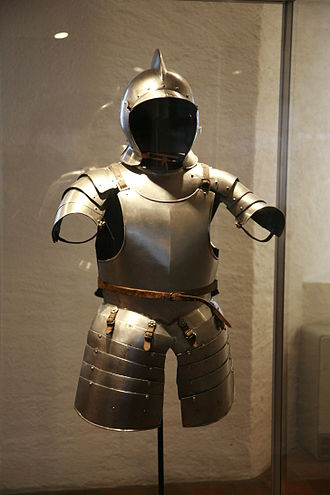 Munition armour - Typical Swiss or landsknechts half-armour worn by foot soldiers in the 16th century, known in England as almain rivet.
