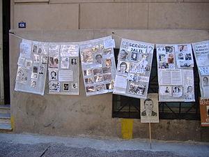 Popular center of remembrance - Image: Desaparecidos Rosario 3