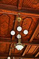 Detail from the railroad station in Cartagena in jugend style or Art Nouveau - Spain 2016 - lamp.jpg