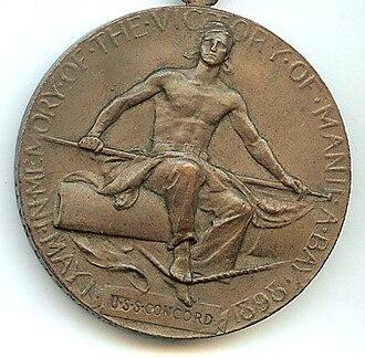 Dewey Medal - Image: Dewey Reverse