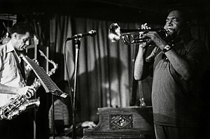 Benny Bailey - Dexter Gordon, left, with Bailey at the Village Vanguard, June 1977