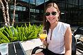 Deya at Rosella Coffee with a Mimosa - North River District, San Antonio, Texas (2015-03-22 by Nan Palmero).jpg