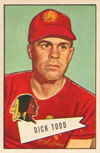 Dick Todd (American football) - Todd on a 1952 Bowman football card