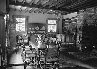Dining room at Dderw, Rhayader
