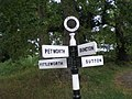 Direction signs in Sutton, West Sussex - geograph.org.uk - 1460506.jpg