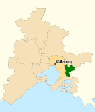 Division of La Trobe - Division of La Trobe in Victoria, as of the 2016 federal election.