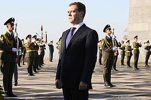 Dmitry Medvedev at Armenian Genocide memorial-1