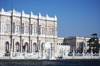 Dolmabahçe Palace - Close-up view of the palace from the Bosphorus