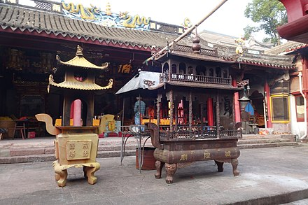Temple of the City God of Dongmen, in Xiangshan, Ningbo, Zhejiang. Dongmen City God Temple, 2014-10-07 17.JPG