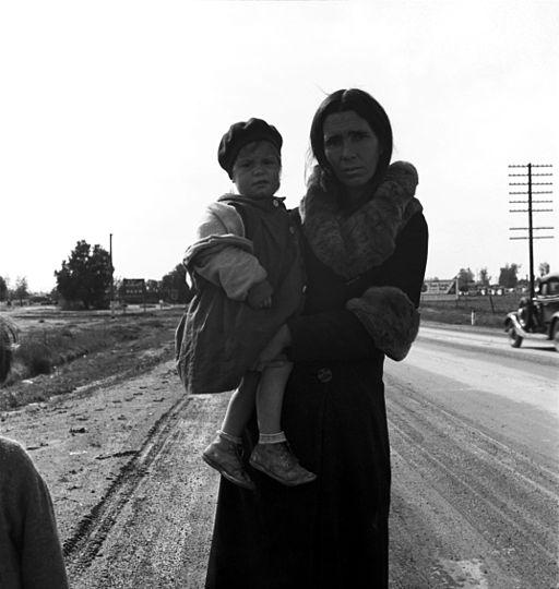 Dorothea Lange, Homeless mother and child near Brawley, California, 1939
