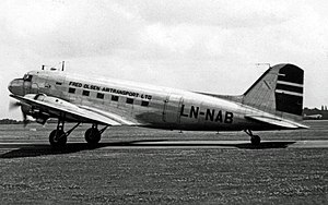 Fred. Olsen Airtransport - Fred Olsen Airtransport Douglas C-47A operating a ships crew charter to Manchester Airport in 1950