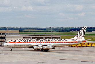 African Safari Airways - African Safari Douglas DC-8 at Frankfurt Airport in 1977