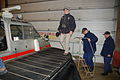 Dr. Lubchenco, Adm. Allen and Rear Adm. Colvin board a hovercraft for a tour of Prudhoe Bay oil facilities.jpg
