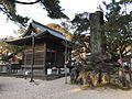 Drum Hall and stele in Miyajidake Shrine.jpg