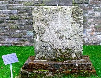 Battle of Drumclog - Remnants of the original memorial at Drumclog Memorial Church.