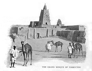 Félix Dubois - The Grand Mosque or Djingareyber Mosque in Timbuktu, from Timbuctoo: the mysterious