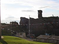 Dunbar Harbour and Castle ruins
