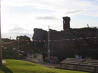 Dunbar - Castle at Dunbar Harbour