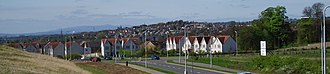 Dunfermline - Panorama of Dunfermline seen from the town's Duloch neighbourhood in the east