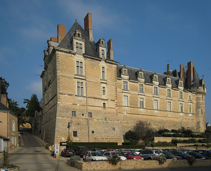 Castle of Durtal, located in the village of Durtal in the departement of Maine-et-Loire/France.