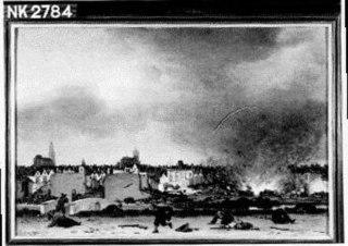 De explosie van het kruitmagazijn te Delft, 12 oktober 1654