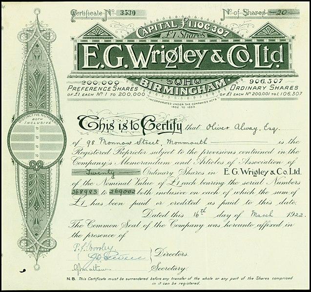 File:E. G. Wrigley & Co Ltd 1922.jpg