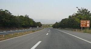 Transport in the Republic of Macedonia - A-1 near Stobi