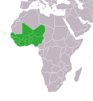 Location of West Africa in Africa