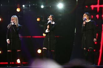 Russia in the Eurovision Song Contest - Image: ESC 2007 Russia Serebro Song No 1