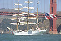 Eagle Passes Under Golden Gate Bridge (2697713302).jpg