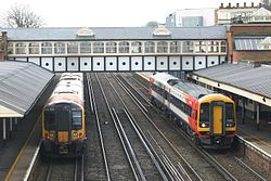 Eastleigh - SWT 444029 and 158881.JPG