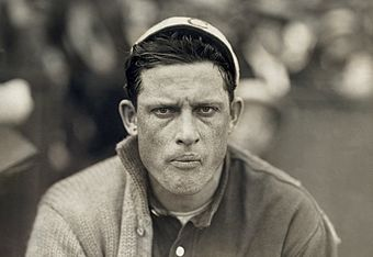 In 1908 and 1911, Ed Walsh was the American League strikeout champion. Ed Walsh portrait 1911.jpg