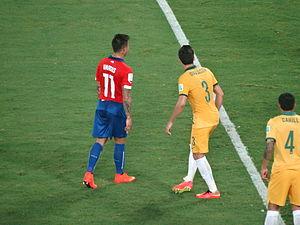 Jason Davidson - Davidson playing against Eduardo Vargas at the 2014 FIFA World Cup.