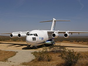McDonnell Douglas YC-15 - The first YC-15 in the Century Circle display at Edwards Air Force Base