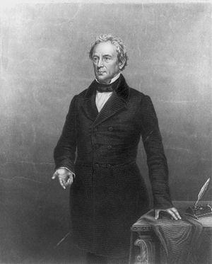 Massachusetts gubernatorial election, 1839 - Image: Edward Everett, 1794 1865, three quarter length portrait, standing, facing left