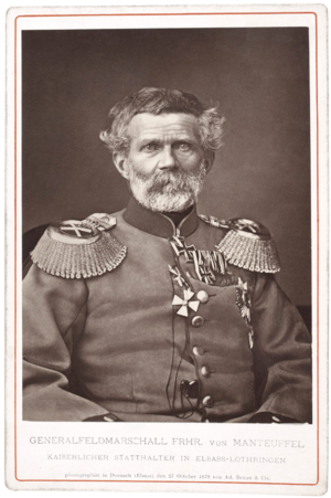Edwin Freiherr von Manteuffel - Image: Edwin Freiherr von Manteuffel by Adolphe Braun