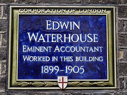 Edwin waterhouse eminent accountant worked in this building 1899 1905